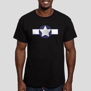 WWII Star Stripe Men's Fitted T-Shirt (dark)