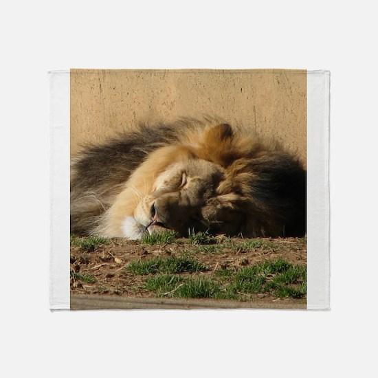 Lion in Dreamland Throw Blanket