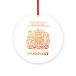 PASSPORT(UK) Ornament (Round)