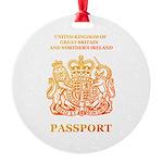 PASSPORT(UK) Round Ornament
