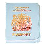 PASSPORT(UK) baby blanket