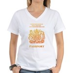 PASSPORT(UK) Women's V-Neck T-Shirt