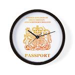 PASSPORT(UK) Wall Clock