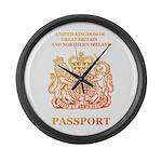 PASSPORT(UK) Large Wall Clock
