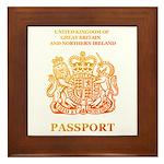 PASSPORT(UK) Framed Tile