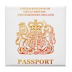 PASSPORT(UK) Tile Coaster