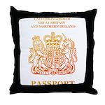 PASSPORT(UK) Throw Pillow