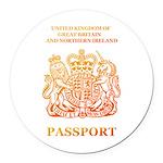 PASSPORT(UK) Round Car Magnet