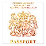 PASSPORT(UK) Square Car Magnet 3