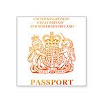 PASSPORT(UK) Square Sticker 3
