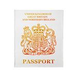 PASSPORT(UK) Throw Blanket