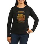 PASSPORT(UK) Women's Long Sleeve Dark T-Shirt