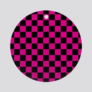 Large Simple Check Ornament (Round)