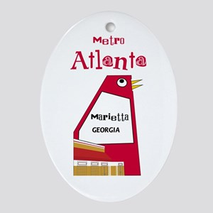 Atlanta Ornament (Oval)