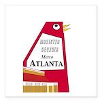 "Atlanta Square Car Magnet 3"" x 3"""