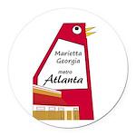Atlanta Round Car Magnet