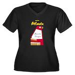 Atlanta Women's Plus Size V-Neck Dark T-Shirt