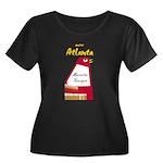 Atlanta Women's Plus Size Scoop Neck Dark T-Shirt