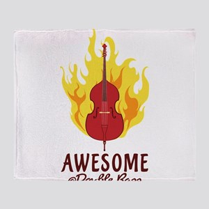 Awesome At Double Bass Throw Blanket