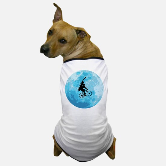 Cycling In Moonlight Dog T-Shirt