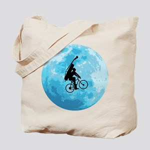 Cycling In Moonlight Tote Bag