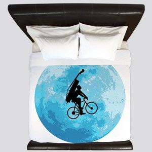 Cycling In Moonlight King Duvet