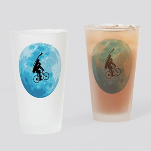Cycling In Moonlight Drinking Glass