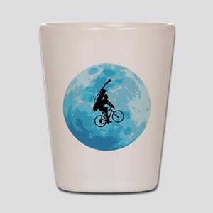 Cycling In Moonlight Shot Glass