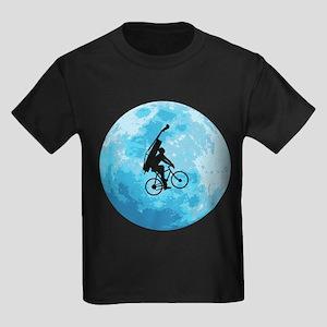 Cycling In Moonlight Kids Dark T-Shirt
