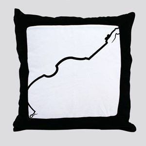 Double Bass Throw Pillow