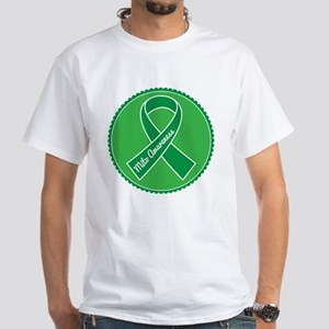 Mito Research Green Ribbon White T-Shirt