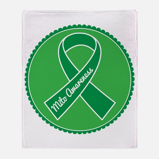 Mito Research Green Ribbon Throw Blanket