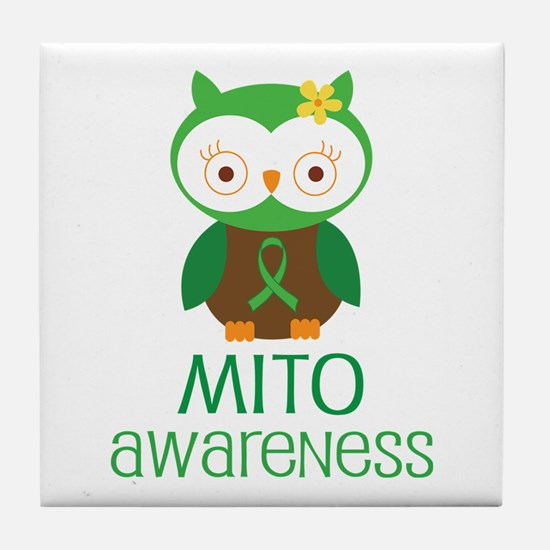 Mito Awareness Owl Tile Coaster