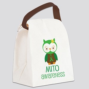 Mito Awareness Owl Canvas Lunch Bag