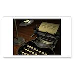 Typewriter Sticker (Rectangle 10 pk)