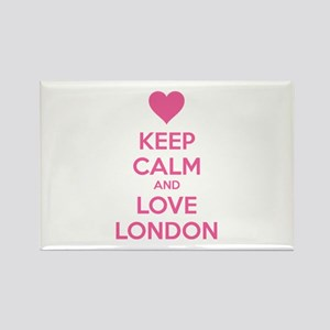 Keep calm and love london Rectangle Magnet