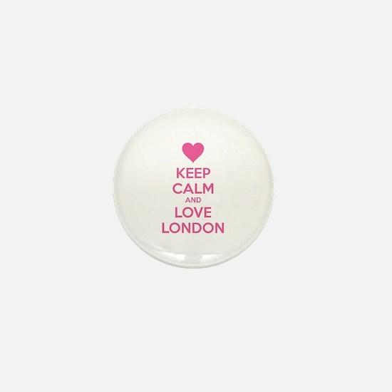 Keep calm and love london Mini Button