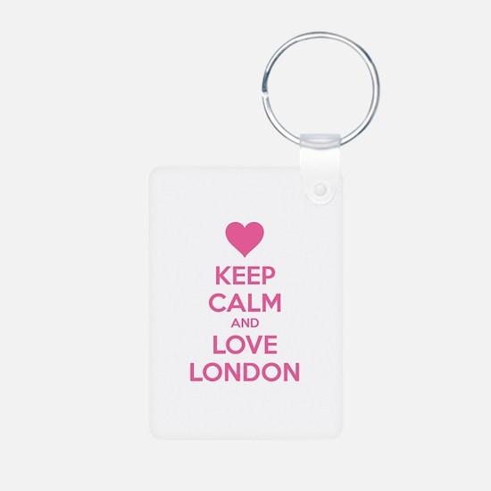 Keep calm and love london Keychains