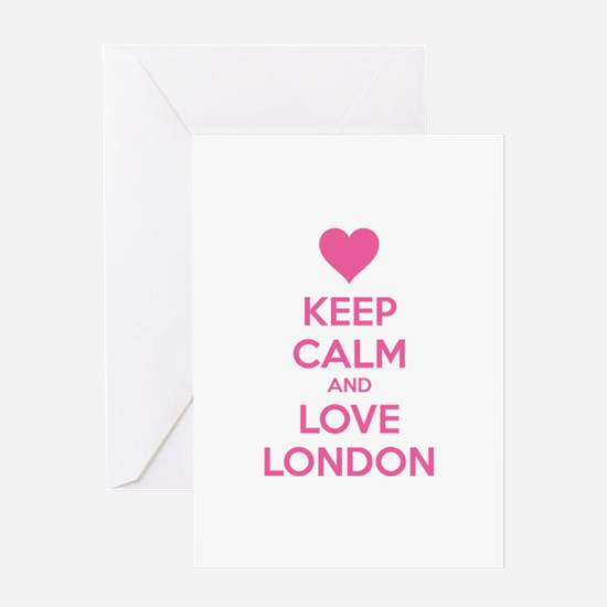 Keep calm and love london Greeting Card