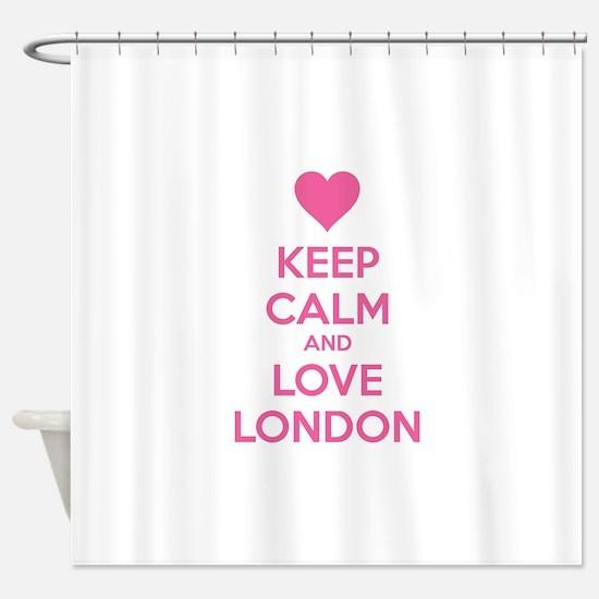 Keep calm and love london Shower Curtain