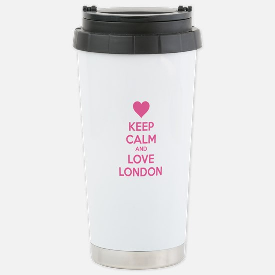 Keep calm and love london Stainless Steel Travel M