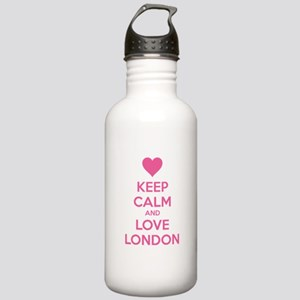 Keep calm and love london Stainless Water Bottle 1