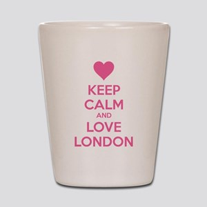 Keep calm and love london Shot Glass