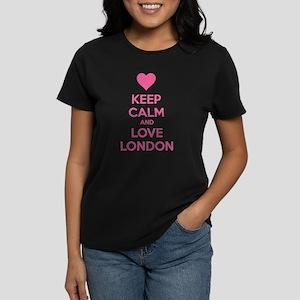 Keep calm and love london Women's Dark T-Shirt