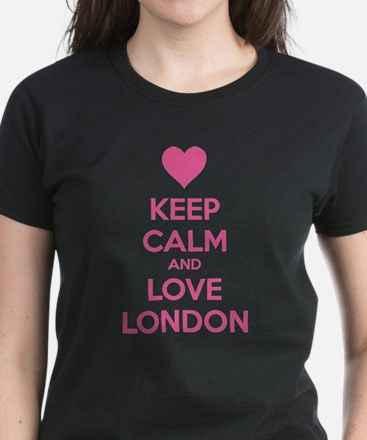 Keep calm and love london Women's Dark T-Shirt