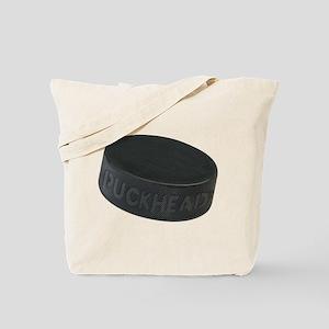 Hockey Puckhead Tote Bag