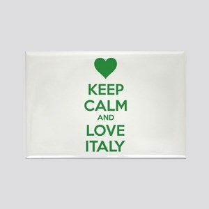 Keep calm and love Italy Rectangle Magnet