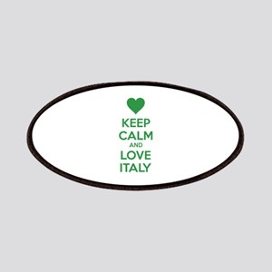 Keep calm and love Italy Patches
