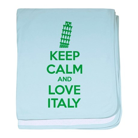 Keep calm and love Italy baby blanket