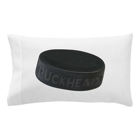 Hockey Puckhead Pillow Case